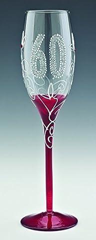 Boxer Champagner Glas mit farbigem Stiel zum