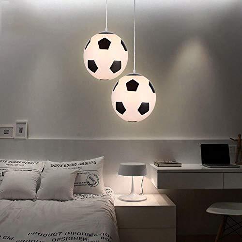 Nordic led pendelleuchten moderne kinderzimmer glas fußball geformt pendelleuchte wohnzimmer schöne licht deco küchenarmaturen, 30 cm
