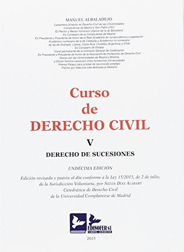 CURSO DE DERECHO CIVIL-TOMO V (DERECHO DE SUCESIONES)