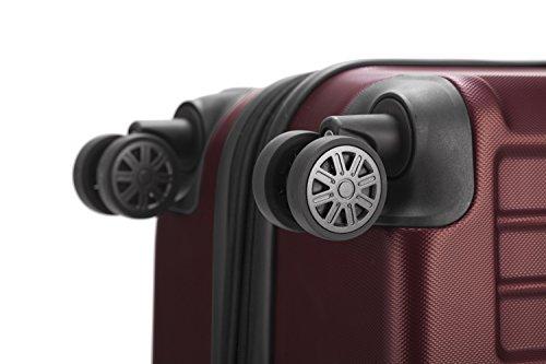 HAUPTSTADTKOFFER® Hartschalenkoffer · XBERG HK-8280 · TSA Schloss · als SET oder EINZELN in verschiedenen FARBEN und GRÖSSEN (42 Liter, Rot) Rot