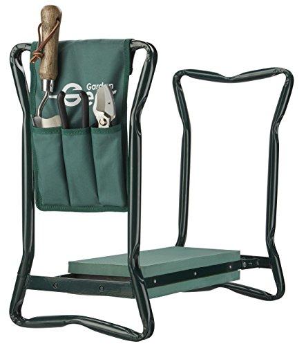 Garden Kneeler Folding Seat Stool with Handles & Tool Bag 3 in 1 for Outdoor Gardening & DIY