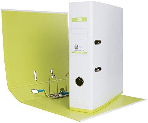ELBA 100023638 Ordner myColour 10er Pack Kunststoffbezug außen und innen 8 cm breit DIN A4 zweifarbig weiß sortiert, weiß/violett, weiß/pink und weiß/hellgrün - 4