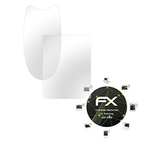 Samsung SGH-X480 Spiegelfolie - 1er Set atFoliX FX-Mirror Displayschutz Folie mit Spiegeleffekt