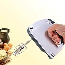 Pequeño Batidor de cocina eléctrico con doble cabezas Plus eficaz emulsionneur de leche espumador de leche mezclador batidora licuadora de Acero Inoxidable con 7modos para crèmes cafés con leche & # x153; ufs etc.