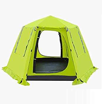 ZCu0026J Double cloth tent 3-4 people automatic tents telescopic aluminum bar c& easy to build polyester cloth waterproof strong wind home c&ing tent ... & ZCu0026J Double cloth tent 3-4 people automatic tents telescopic ...