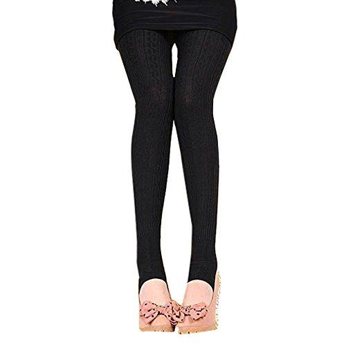 Leggings delle donne, lmmvp donne cotone pantaloni comodi collant pantaloni per saffa leggings (nero)