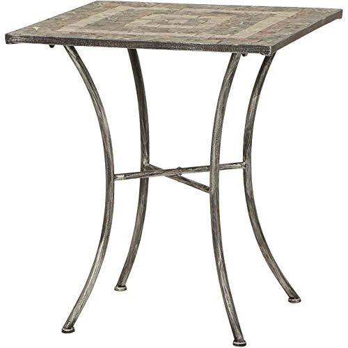 linoows Gartentisch Panamera, Mosaik Möbel im Mediterrane Stil, Tisch Eckig 64 cm