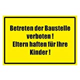 Hinweiszeichen - Hinweisschild - Betreten der Baustelle verboten - Kunststoff