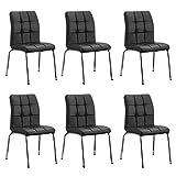 Designetsamaison Lot de 6 chaises Salle à Manger Noires - Nursia