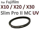 Nuovo: HAIDA PRO II Slim Digital MC–Speciale Filtro UV 40mm per Fuji X10/X20/X30–con copriobiettivo