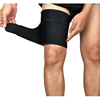 Bankaa Thigh Brace Thigh Adjustable Recovery Upper Leg Sleeves Unisex Breathable Hamstring Compression Sleeve Prevent strain and Sprain