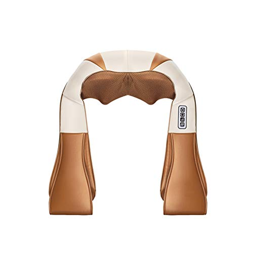 Preisvergleich Produktbild QAQ Schal Massagegerät 8 Massageköpfe Kneten Heizung Nacken / Schulter / Taille / Halswirbel, Brown, 66 * 53cm