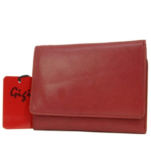 GIGI-OTHELLO-1062-Cartera-monedero-Cuero-Mediano-Rojo