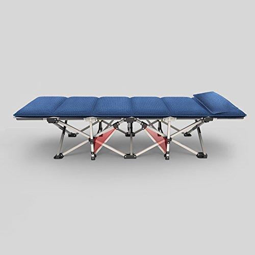 HAMIMI Folding Blätter Menschen Büro Nickerchen Bett Mittagspause Recliner Hause Einfachen Tragbaren Feldbett Klappstuhl (Color : B-Headrests) -
