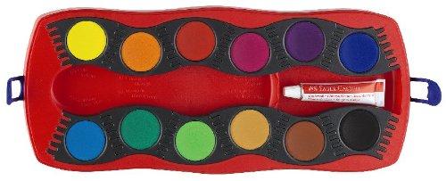 Faber-Castell 125030 - Farbkasten CONNECTOR mit 12 Farben, inklusive Deckweiß - 4