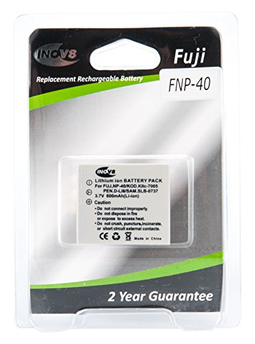 Lithium Batt-pack (Inov8R-C-B Ersatzakku Lithium-Ionen Digital Kamera Akku für Fuji NP-40(2Stück))