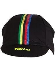 Ciclismo under casco cap Pro Line Negro Iris Fluo ciclismo sombrero gorra nueva