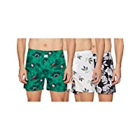 Longies Men's Printed Boxers (Pack of 3) (LGBOXPO3182_Multicoloured_Large)