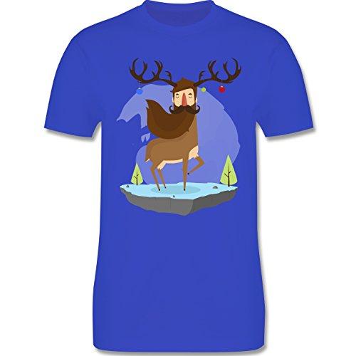 Weihnachten & Silvester - Hipster Hirsch Christbaumschmuck - Herren Premium T-Shirt Royalblau