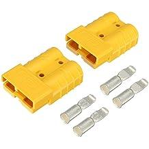 Tutoy 2Pcs 50A Dc12/24V Anderson Estilo Plug Conectores Anderson Power Plug 4X Terminales Amarillo