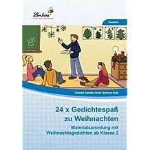 24x Gedichtespaß zu Weihnachten (CD-ROM): Grundschule, Deutsch, Klasse 2-4