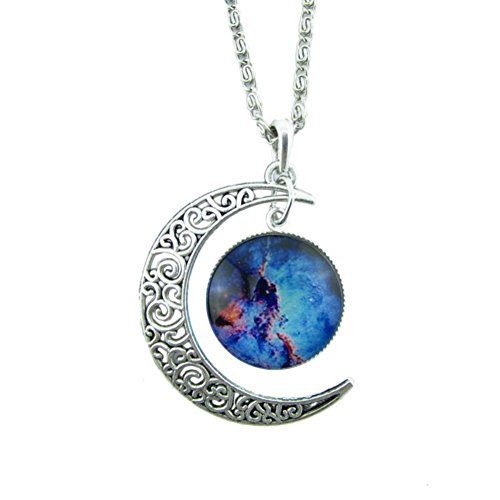 Necklace,JACKY Vintage Moon Necklace Sweater Chain Pendant Jewelry