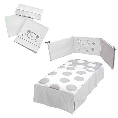 Micuna Sweet Bear - Pack de edredón, protector y juego sábanas para cuna