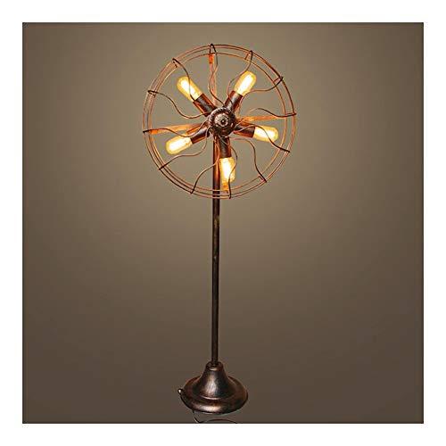 0 Lámpara de pie, lámpara LED Retro Viento industrial Lámpara de pie...