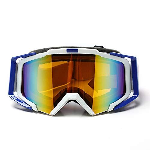 WZYU Skibrille, Wintersportbrille, 100% UV-Schutz, Geeignet Für Skifahren Für Erwachsene Und Jugendliche, Snowboarden, Motorradfahren Und Motorschlittenfahren,Weiß