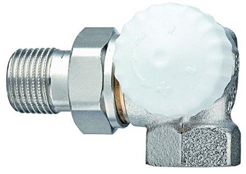 TA Heimeier Thermostat-Ventilunterteil V-exakt II Wi-Eck re RG vernickelt 1/2 Zoll, 3714-02.000