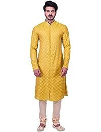 Manyavar Men's Blended Kurta & Churidar Set (M511178)