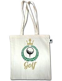 Golf - Lorbeerkanz Krone Golf - Unisize - Natural - XT600 - Fairtrade Henkeltasche / Jutebeutel mit langen Henkeln