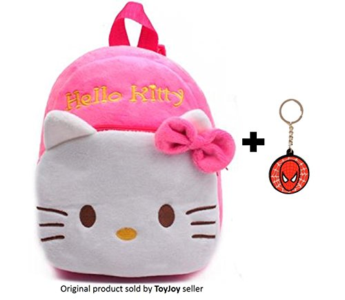 ToyJoy Hello Kitty school bag 2 compartment 35cm with keychain for kids/girls/boys/children plush soft bag backpack cartoon bag gift for kids
