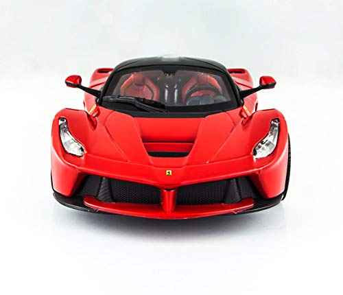 GYZS-TOY Ferrari Car Model 1:24 Simulación Original Alloy Car Model Sports Car Laferrari Regalo (Color : Red)