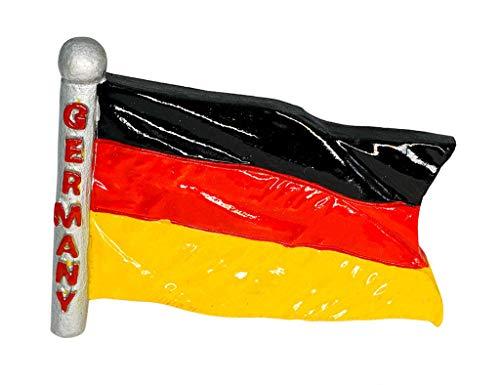 zamonji Deutschland Flagge Kühlschrank Kühlschrankmagnet 3D Harz Magnete Länder Fahne Reise Aufkleber Tourist Geschenk Home & Küche Dekoration - Kühlschrank Magnet Deutschland