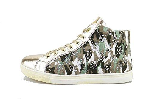DIDI BLU sneakers bambina 39 EUoro pelle verde tessuto AG472