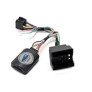 NIQ CAN-BUS Lenkradfernbedienungsadapter geeignet für PIONEER Autoradios, kompatibel mit Opel Astra / Antara / Corsa / Meriva / Signum / Tigra / Vectra C / Zafira