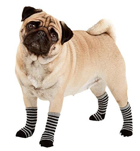 Hundesocken Sockies L: 45 mm B: 35 mm schwarz-grau S
