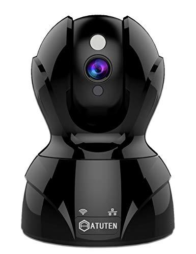 IP Kamera, 1536P WiFi Kamera kompatible mit Alexa Echo Show, Atuten WLAN ÜberwachungsKamera, Bewegungsalarm, IR Nachtsicht, 2 Wege Audio, Auto-Rotation, 64G TF Card, Baby Monitor Kamera, Cloud Service