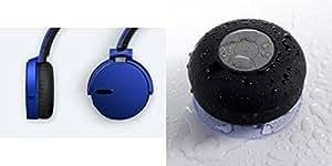 Extra Bass XB650 Headphones & Shower Speaker for MOTOROLA moto x style(XB 650 Headphones,With MIC,Extra Bass,Headset,Sports Headset,Wired Headset & Shower Speaker,Water Resistant,With MIC)