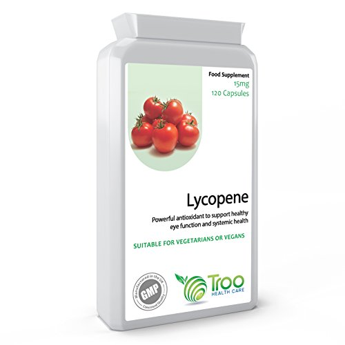Lycopene 15mg 120 Capsules - Powerful Antioxidant to Support Healthy Eye Function and Systemic Health - UK Made GMP Guaranteed Quality Test