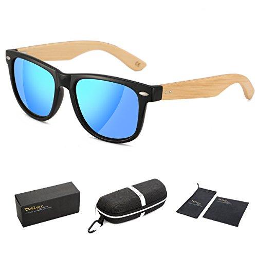 Dollger les lunettes en bois à lunettes vintage wayfarer lunettes de bambou 207187b80abd