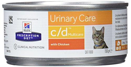Hill's Prescription Diet C/D, Cibo per gatti con sapore di pollo, 156 gr, 1 pezzo