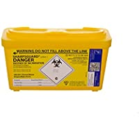 Daniel Sharps DNDD477YL - Cubo de basura (1 L), color amarillo