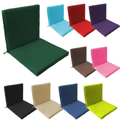 Garden Chair Seat Pad / Cushion 6 Pack in Stone, Fits Securely with Tie Strings and Elasticated Pull Over on Back. Great for Indoors and Outdoors, Made from High Quality Water Resistant Material.