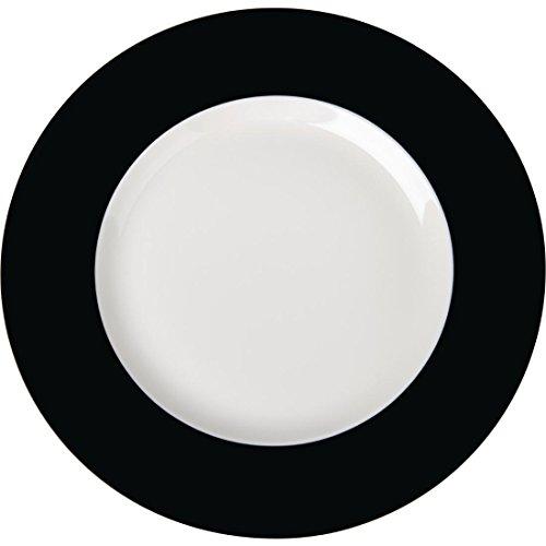 Royal Porcelaine Gg126 Maxadura Bord plate, cerclé, Noir (Lot de 12)