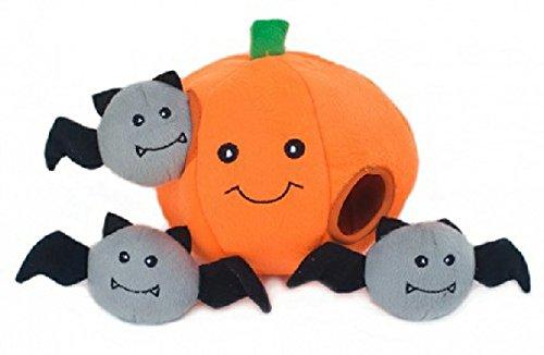 ZippyPaws Halloween Burrow Pumpkin House Puzzle Dog Toy 1