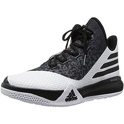 Adidas Light Em UP 2, Zapatillas de Baloncesto para Hombre, Blanco/Gris/Negro (Ftwbla/Negbas/Onix), 40 2/3 EU