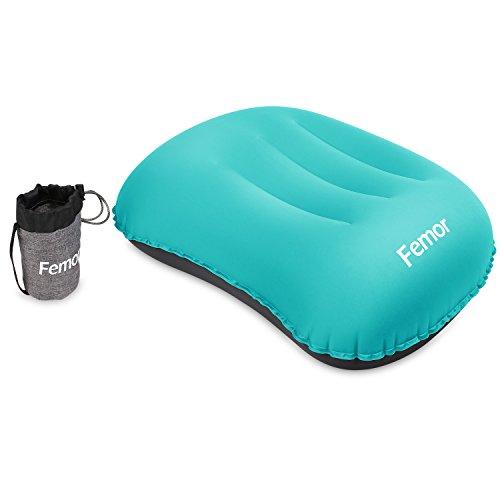 FEMOR Camping Kissen Leichtes Reisekissen Luft-Kissen Aufblasbares Kopfkissen Ultralite für Camping, See, Strand, Urlaubsreise oder Garten