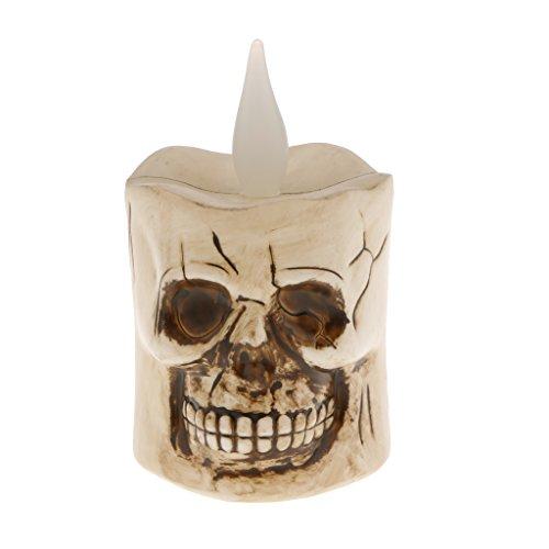 MagiDeal LED Kerzenlicht auffallend Beleuchtung Halloween Dekor Kürbis Schädel Kerzenlampe - Stil 2 - Kürbisse Halloween-dekor